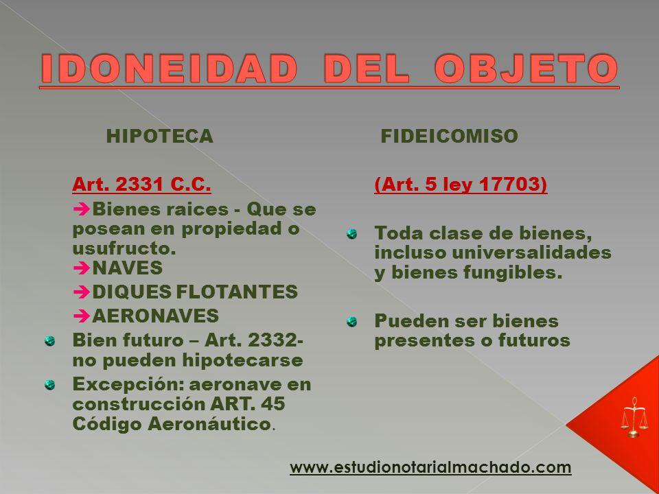 HIPOTECA Inherencia – derecho de persecución (derecho procesal) Art.
