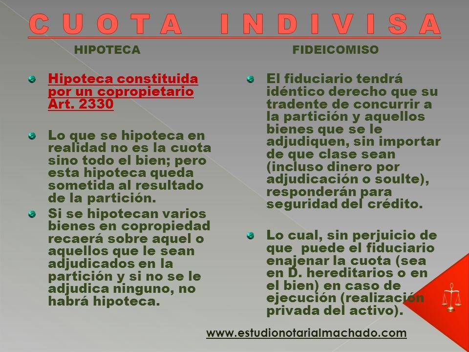 HIPOTECA Idéntica regla para quienes tienen un derecho eventual, limitado o rescindible.