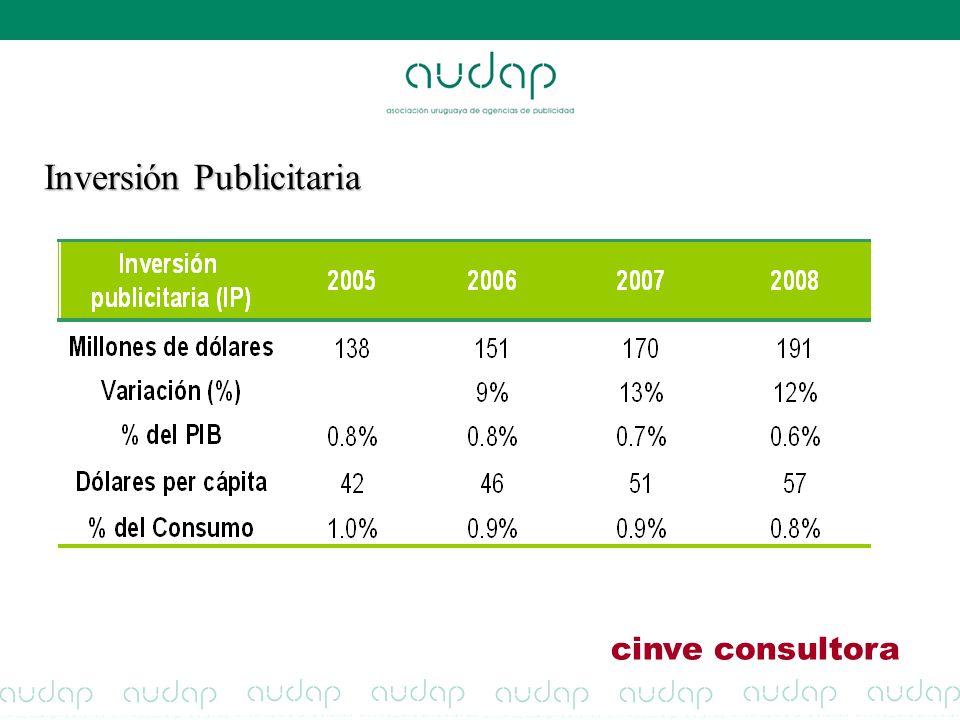 Inversión Publicitaria cinve consultora