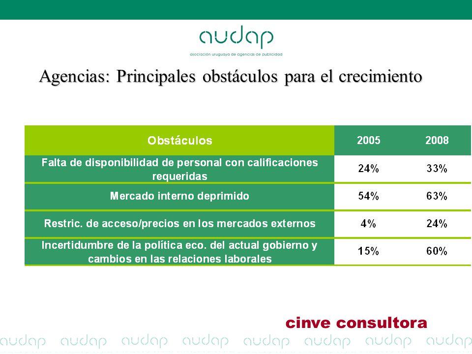 Agencias: Principales obstáculos para el crecimiento cinve consultora