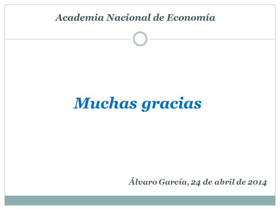 Muchas gracias Academia Nacional de Economía Álvaro García, 24 de abril de 2014