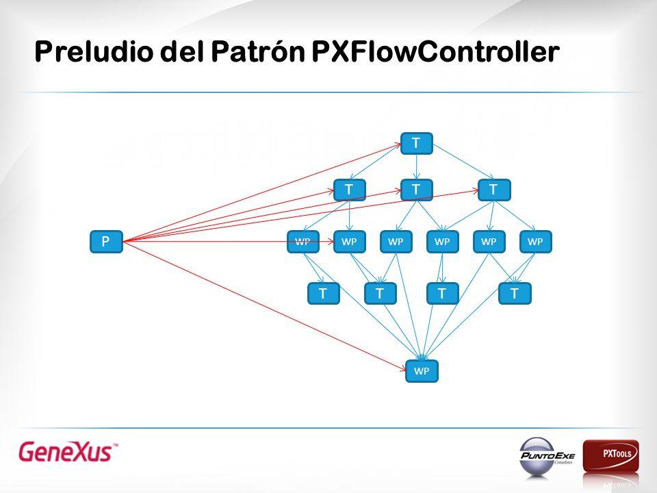 Preludio del Patrón PXFlowController T TTT WP P TTTT