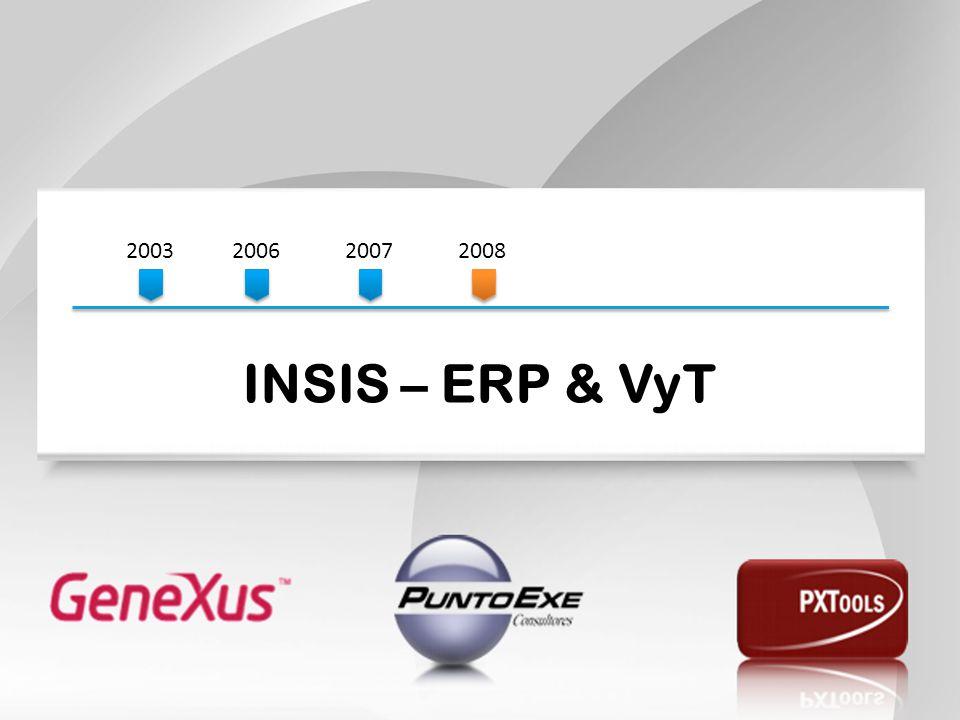 2003200620072008 INSIS – ERP & VyT