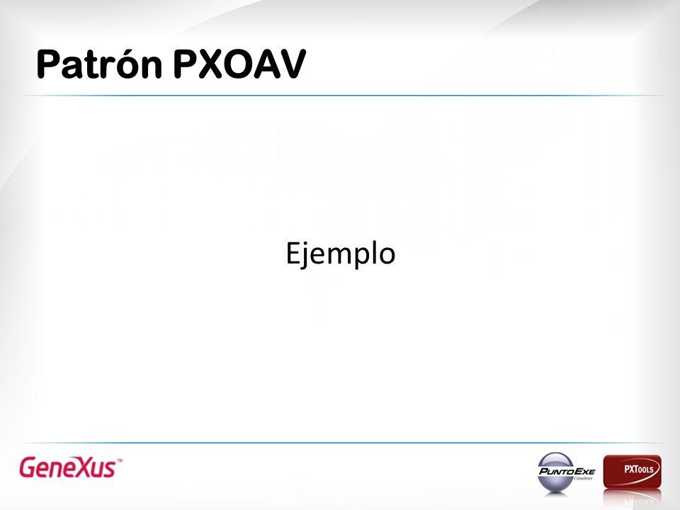 Patrón PXOAV Ejemplo