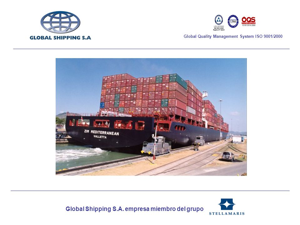 Global Shipping S.A. empresa miembro del grupo Global Quality Management System ISO 9001/2000