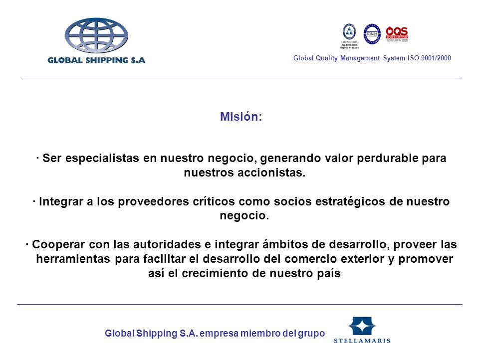 Global Shipping S.A.