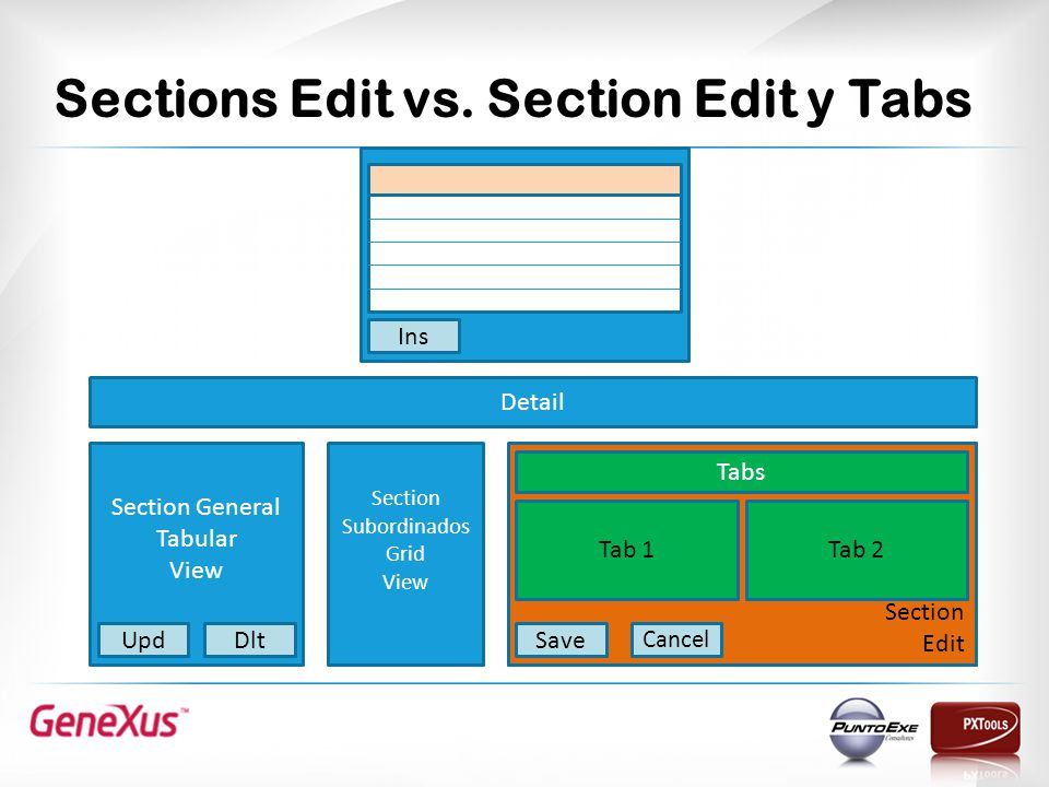 Sections Edit vs.