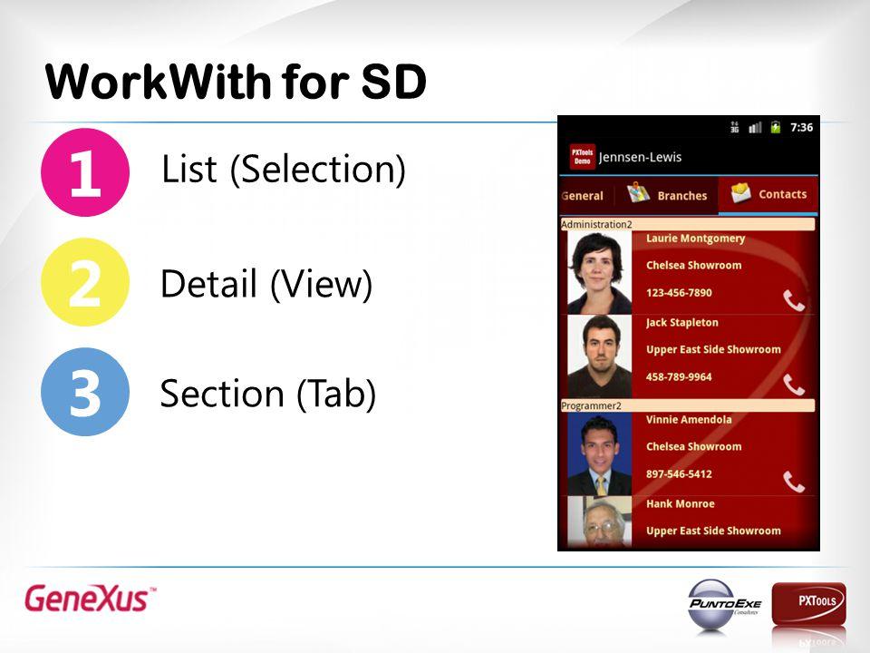 Panel for SD Data Show Tabular 2 1 Data Entry Tabular