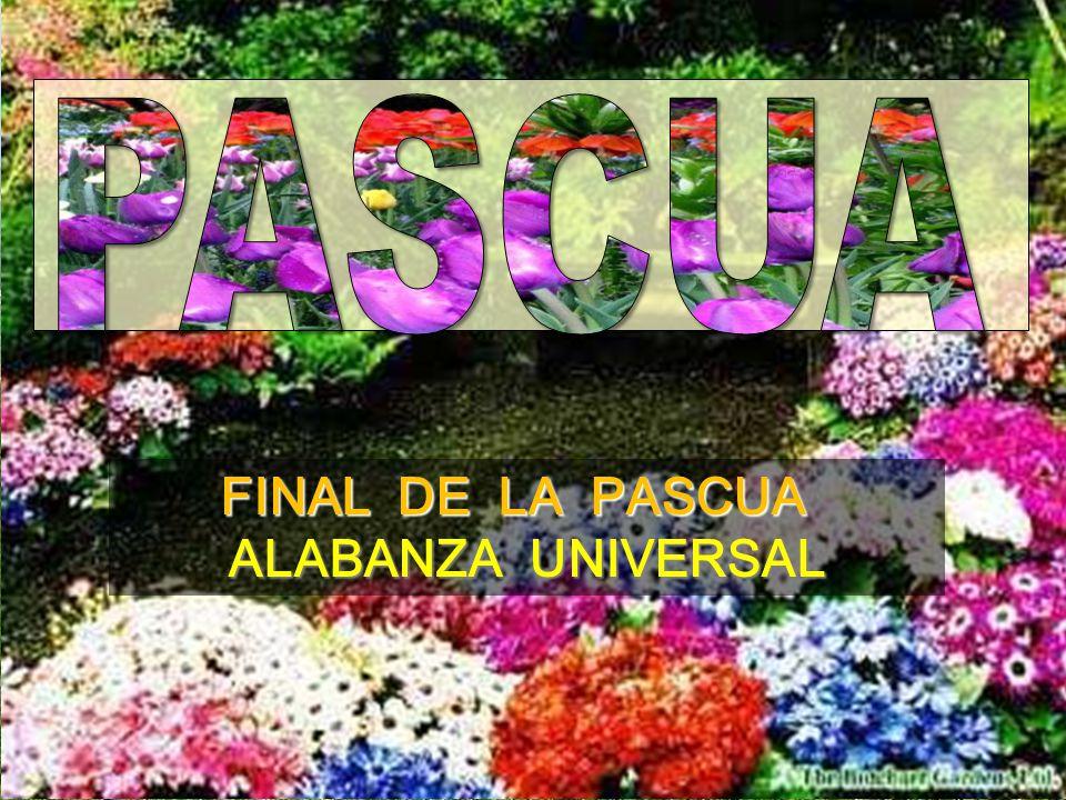 FINAL DE LA PASCUA FINAL DE LA PASCUA ALABANZA UNIVERSAL