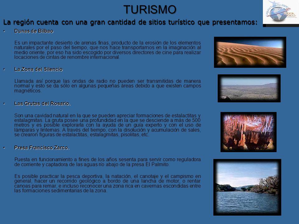 TURISMO Dunas de BilbaoDunas de Bilbao Es un impactante desierto de arenas finas, producto de la erosión de los elementos naturales por el paso del ti
