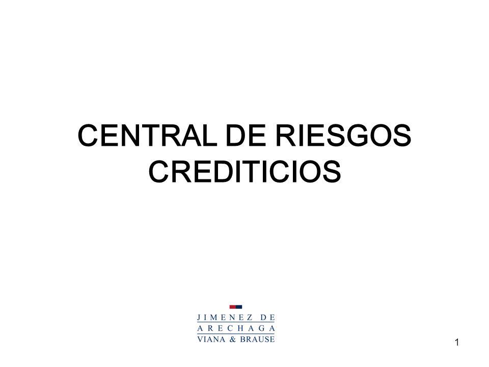 1 CENTRAL DE RIESGOS CREDITICIOS