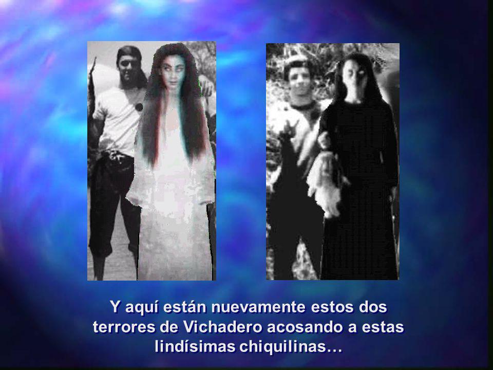 Y aquí están nuevamente estos dos terrores de Vichadero acosando a estas lindísimas chiquilinas… Y aquí están nuevamente estos dos terrores de Vichade