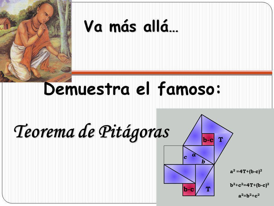 Va más allá… Demuestra el famoso: Teorema de Pitágoras
