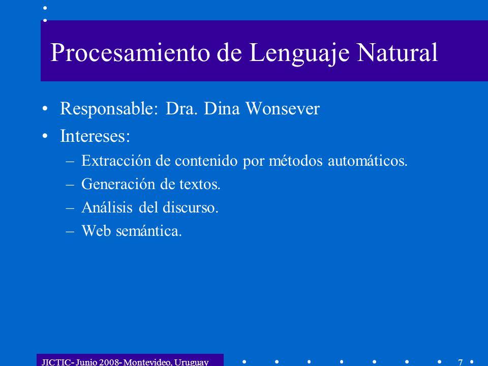 JICTIC- Junio 2008- Montevideo, Uruguay18 Experiencias Importancia de conocimiento personal y de vínculos sólidos de confianza.