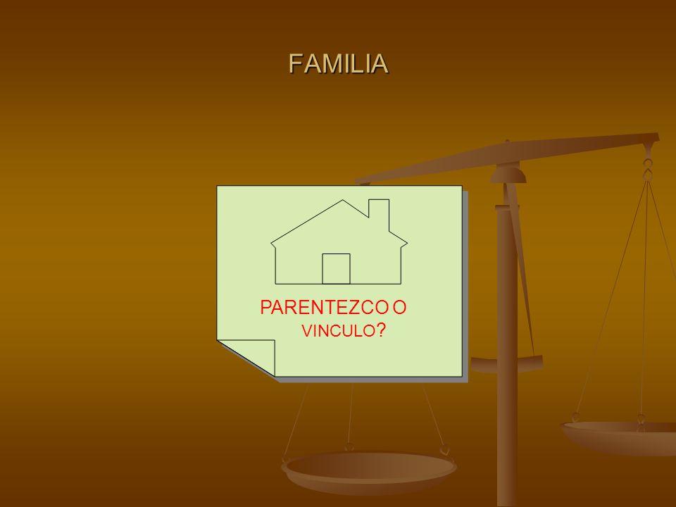 FAMILIA PARENTEZCO O VINCULO ?