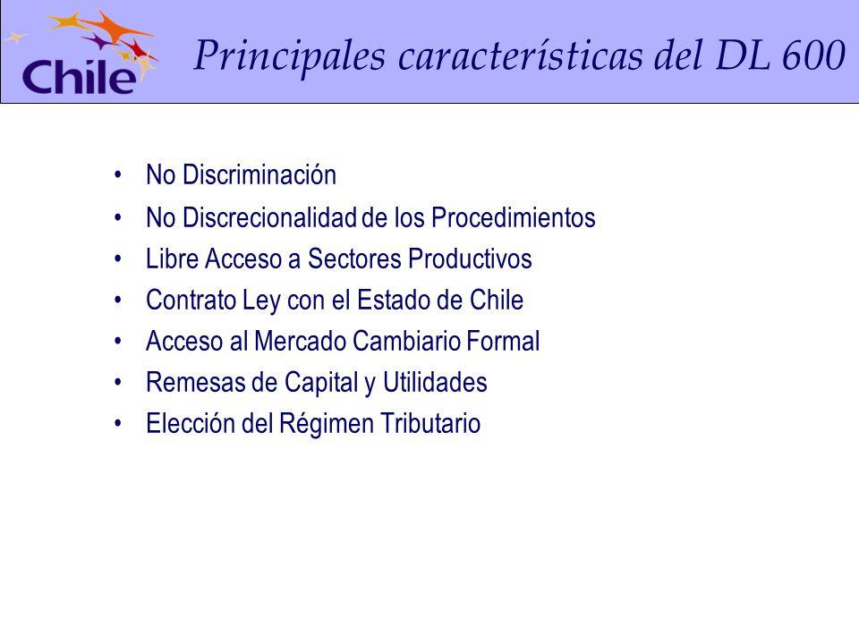 Principales características del DL 600 Derivación de la garantía constitucional de la igualdad ante la ley.