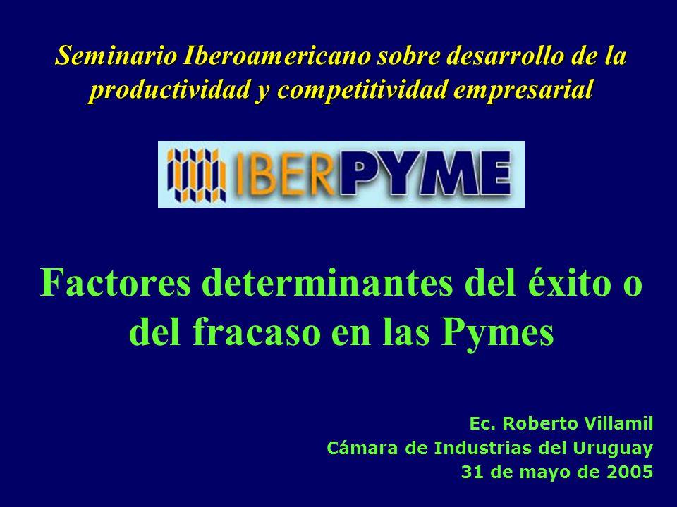 Factores determinantes del éxito o del fracaso en las Pymes Ec.