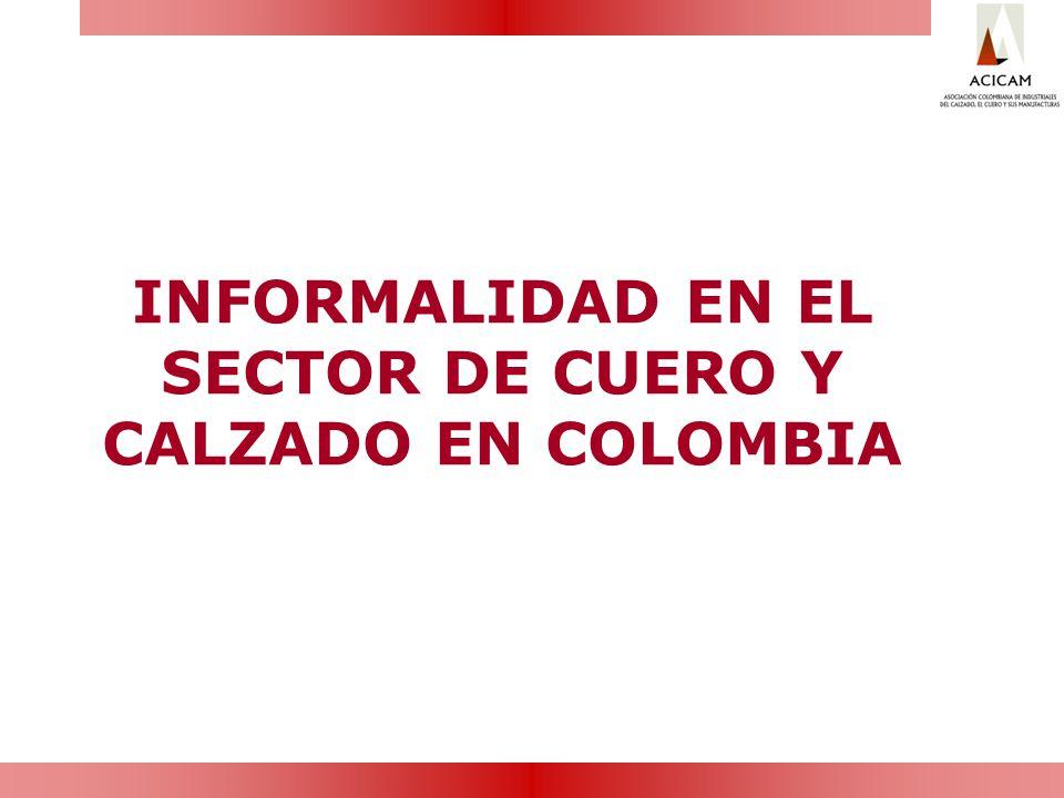 INFORMALIDAD EN EL SECTOR DE CUERO Y CALZADO EN COLOMBIA