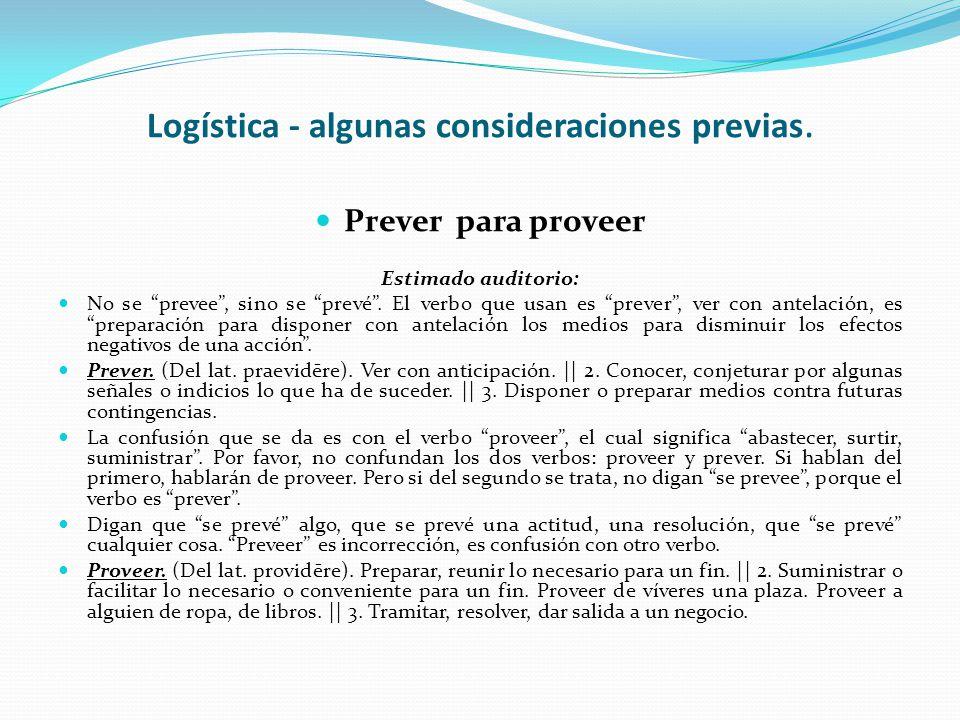 Introducción a la Logística - Programa Unidad 1: Concepto y fundamentos de la Logística. Unidad 2: Funciones de la distribución física. Unidad 3: Conc