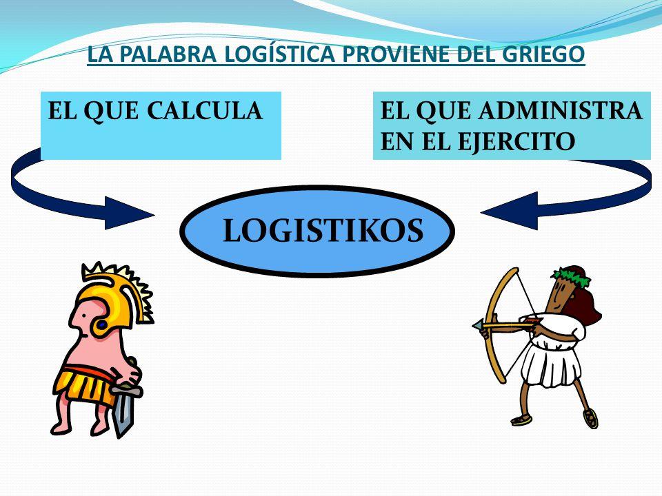 Logística Almirante ECCLES (USN): La Logística es una parte del arte de la guerra que tiene por objeto proporcionar a las fuerzas armadas los medios n