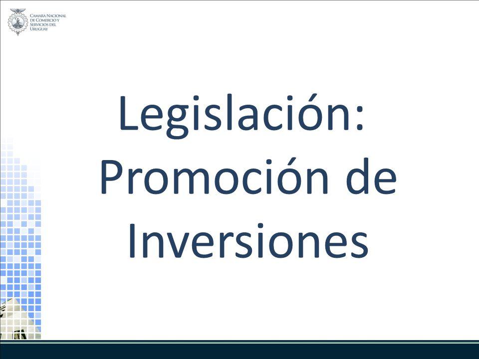 Legislación: Promoción de Inversiones