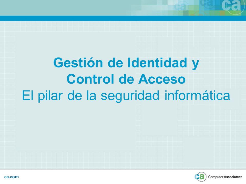 Gestión de Identidad y Control de Acceso El pilar de la seguridad informática