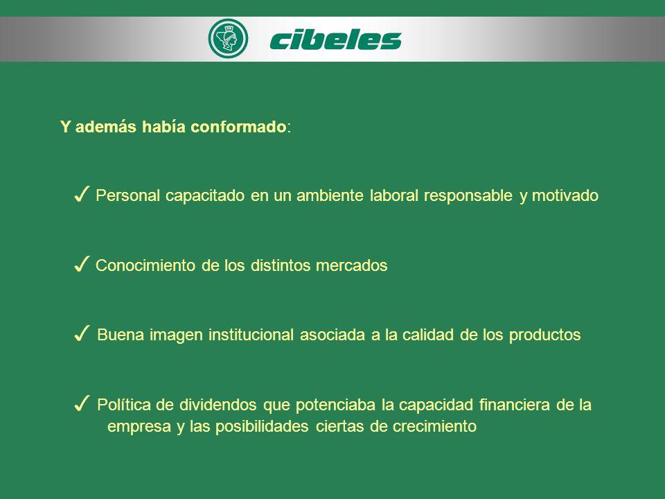 COMPAÑÍA CIBELES S.A.
