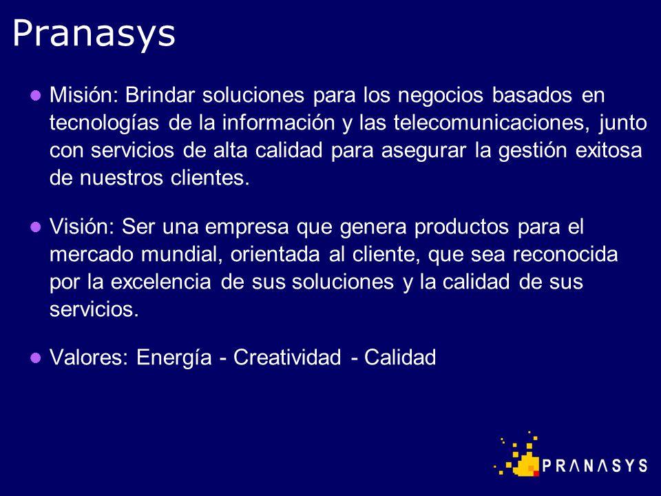 Pranasys es una empresa de alta tecnología y servicios que desarrolla su propio software y hardware.