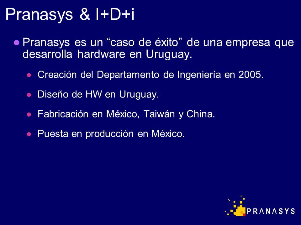 Pranasys es un caso de éxito de una empresa que desarrolla hardware en Uruguay. Creación del Departamento de Ingeniería en 2005. Diseño de HW en Urugu