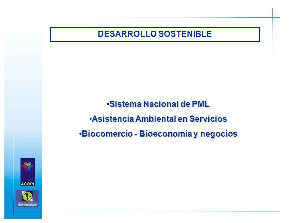 Sistema Nacional de PMLSistema Nacional de PML Asistencia Ambiental en ServiciosAsistencia Ambiental en Servicios Biocomercio - Bioeconomía y negocios