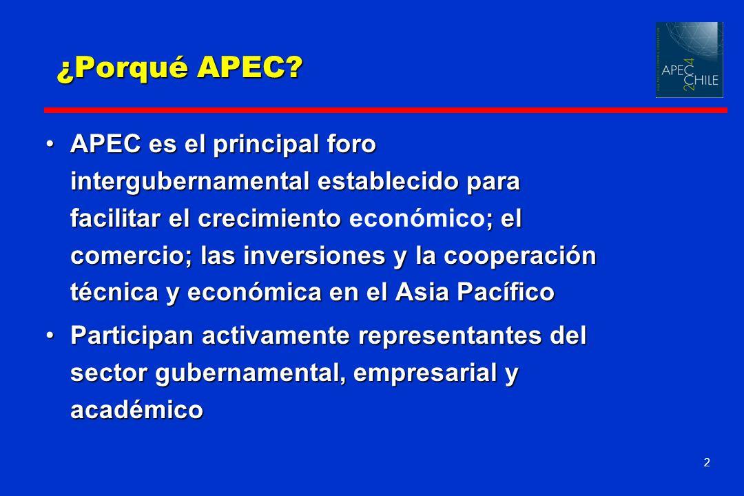 2 APEC es el principal foro intergubernamental establecido para facilitar el crecimiento ; el comercio; las inversiones y la cooperación técnica y eco