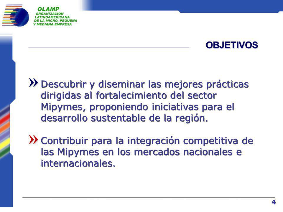 MISIÓN Promover, fomentar, fortalecer y desarrollar las Mipymes en los países de lengua latina.