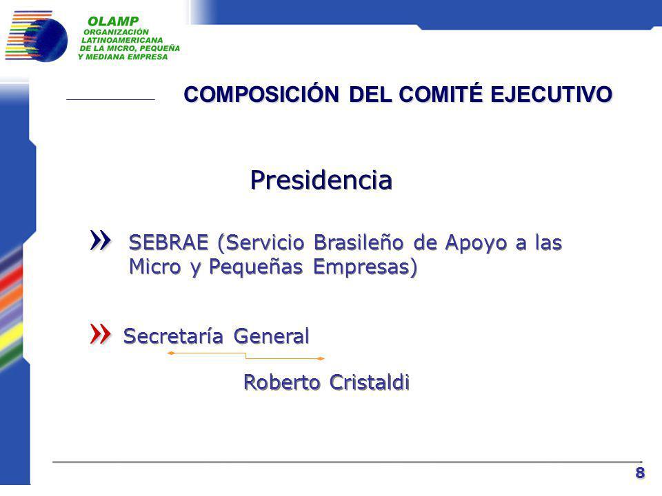 ESTRUCTURA ORGANIZACIONAL » Asamblea General »» Comité Ejecutivo Presidencia Vice-Presidencias Nacionales e Institucionales Secretaría General 7