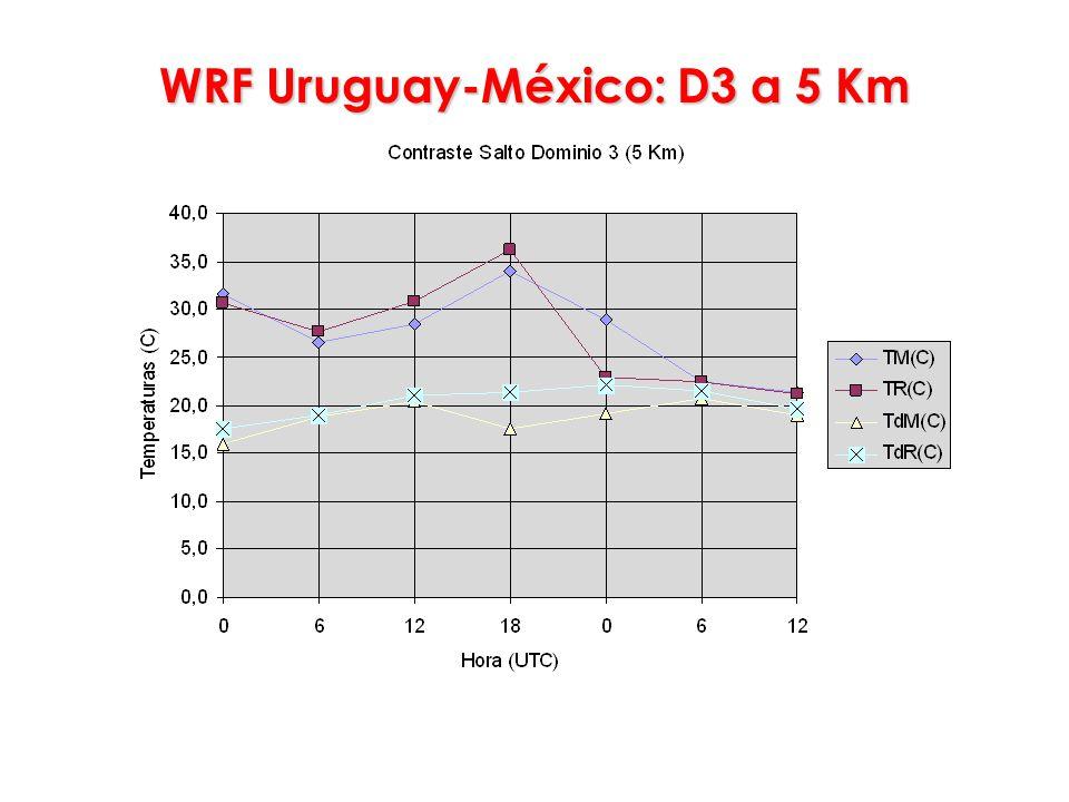 WRF Uruguay-México: D3 a 5 Km