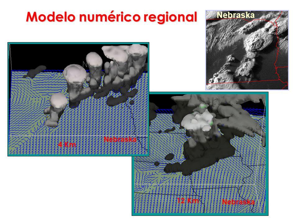 Nebraska 12 Km Modelo numérico regional Nebraska 4 Km