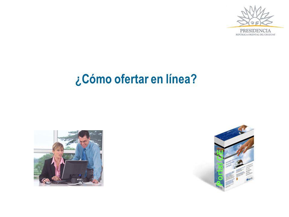 ¿Cómo ofertar en línea? Portal CE