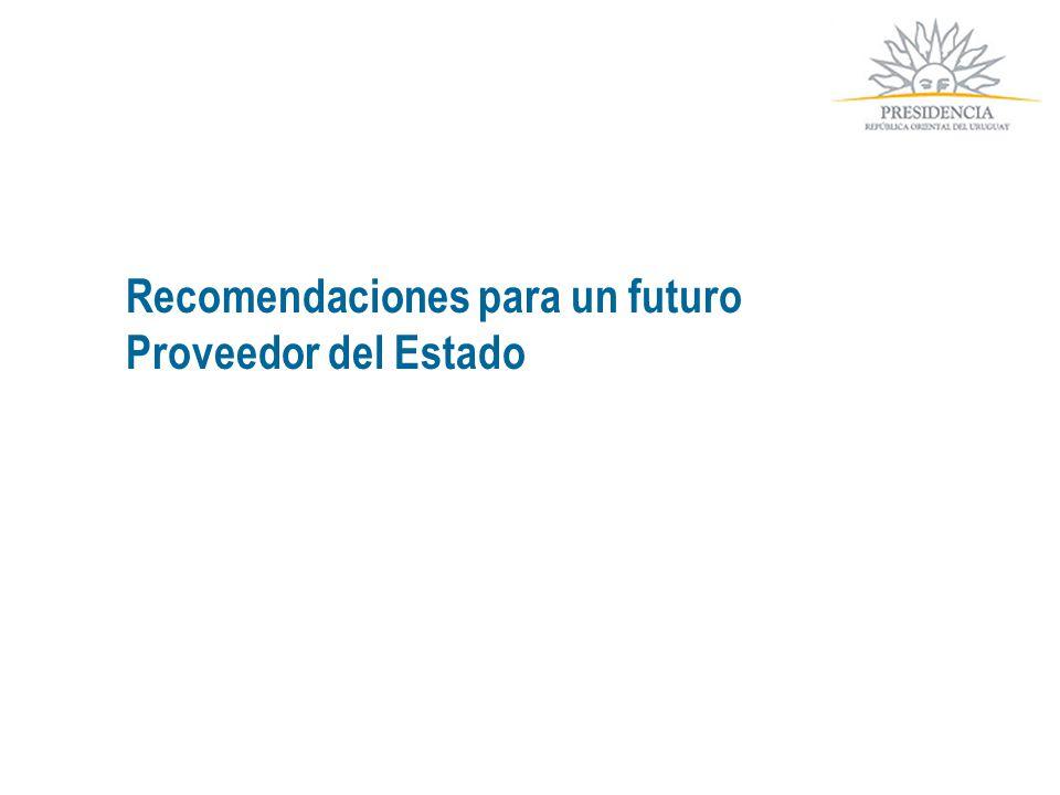 Recomendaciones para un futuro Proveedor del Estado