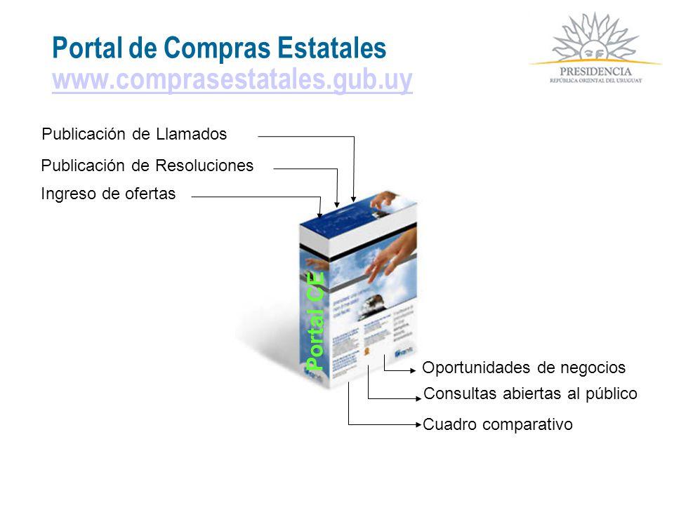 Portal de Compras Estatales www.comprasestatales.gub.uy www.comprasestatales.gub.uy Publicación de Llamados Publicación de Resoluciones Consultas abie