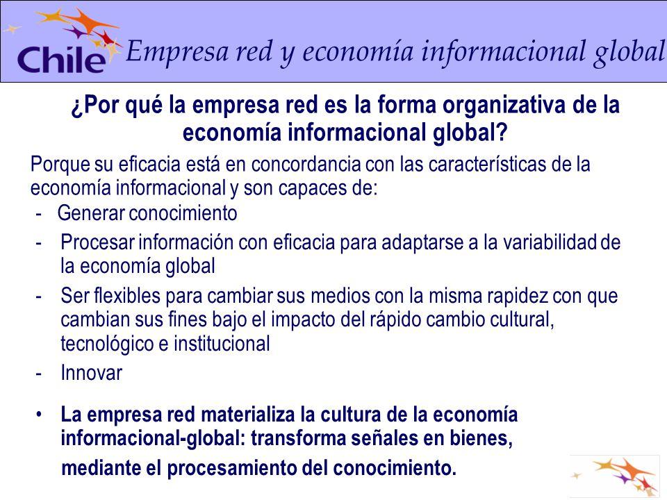 - Generar conocimiento -Procesar información con eficacia para adaptarse a la variabilidad de la economía global -Ser flexibles para cambiar sus medio
