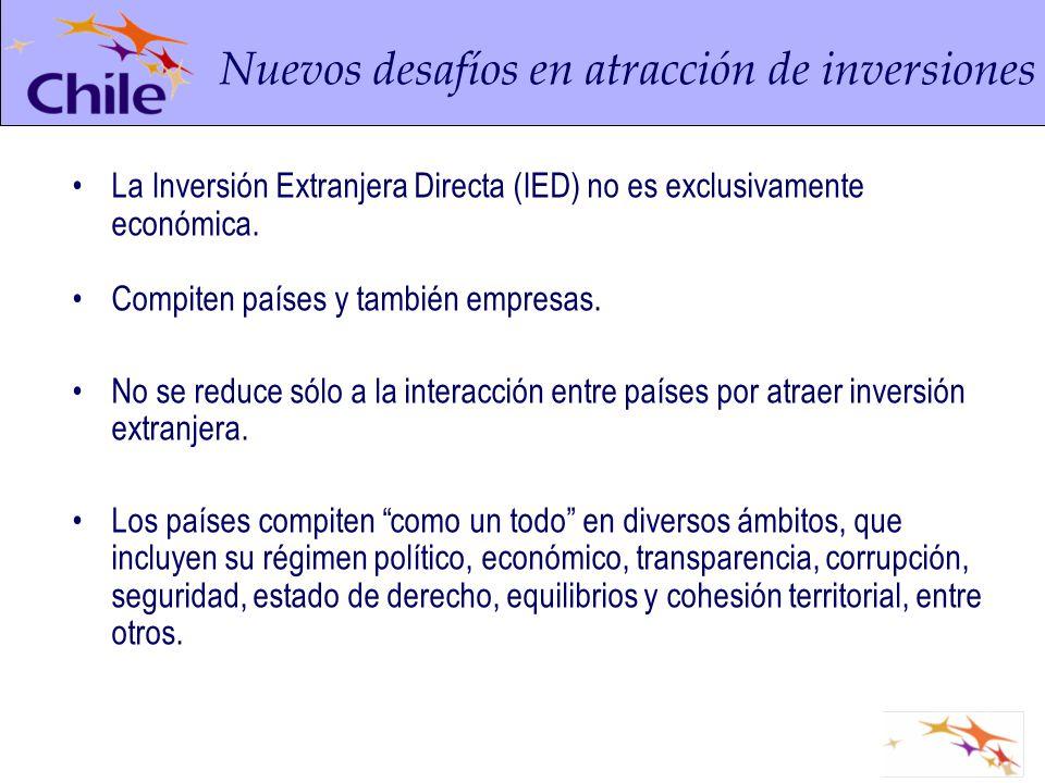 La Inversión Extranjera Directa (IED) no es exclusivamente económica. Compiten países y también empresas. No se reduce sólo a la interacción entre paí