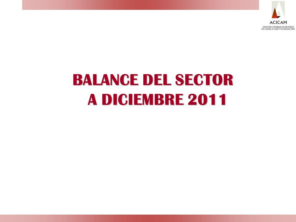 BALANCE DEL SECTOR Fuente: Supersociedades, Cálculos ACICAM