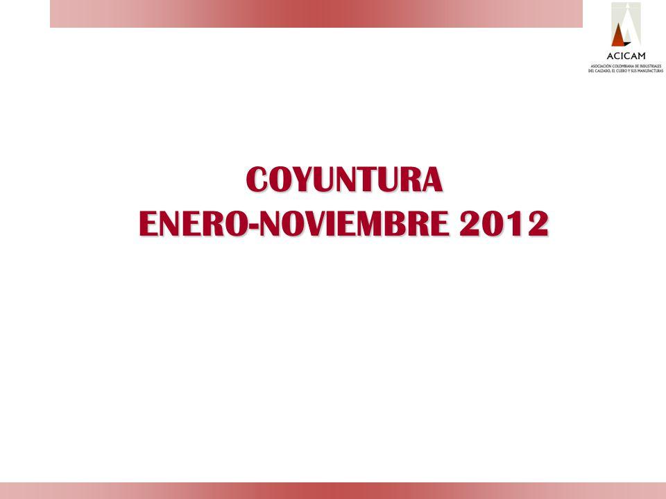 COYUNTURA ENERO-NOVIEMBRE 2012