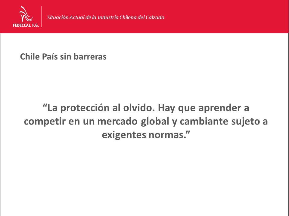 Chile País sin barreras Situación Actual de la Industria Chilena del Calzado La protección al olvido.