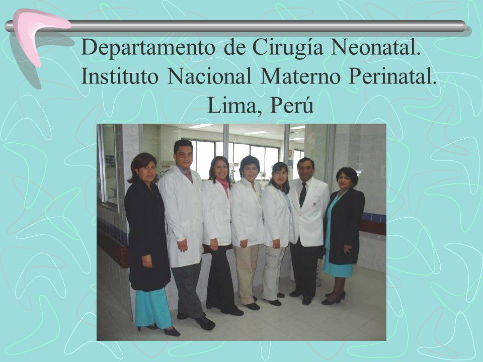 Departamento de Cirugía Neonatal. Instituto Nacional Materno Perinatal. Lima, Perú