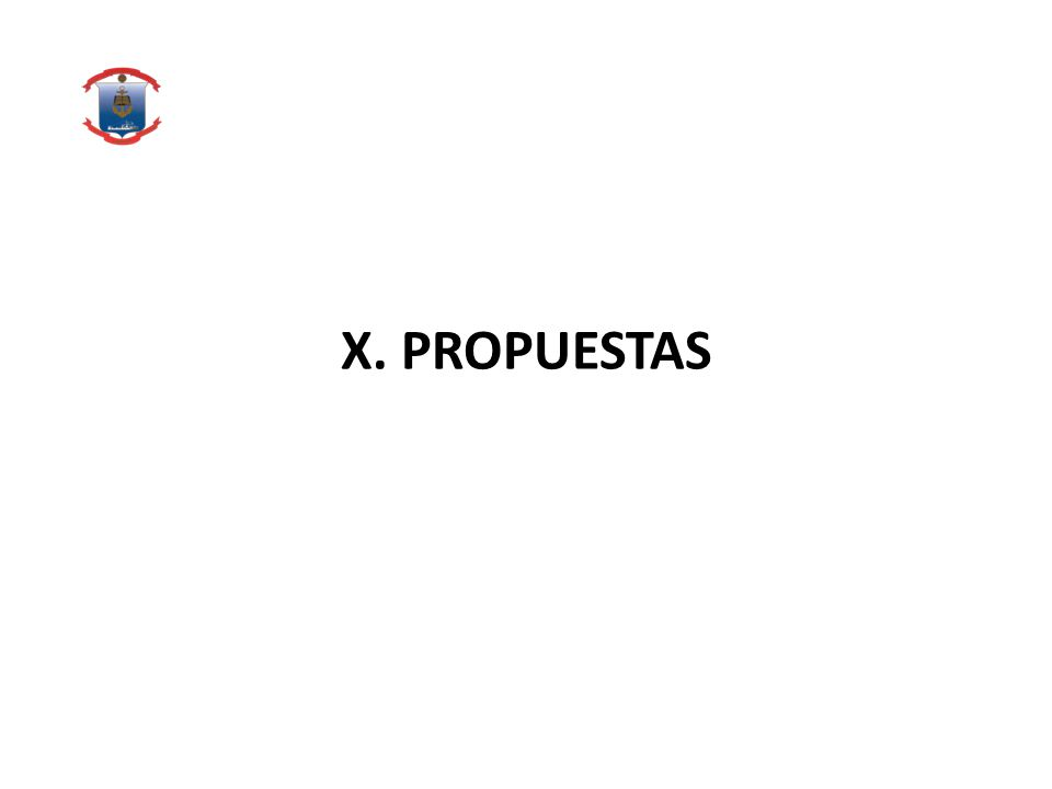 X. PROPUESTAS
