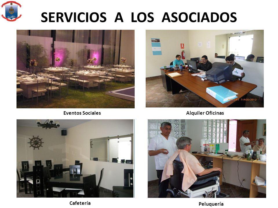 SERVICIOS A LOS ASOCIADOS Peluquería Cafetería Eventos Sociales Alquiler Oficinas