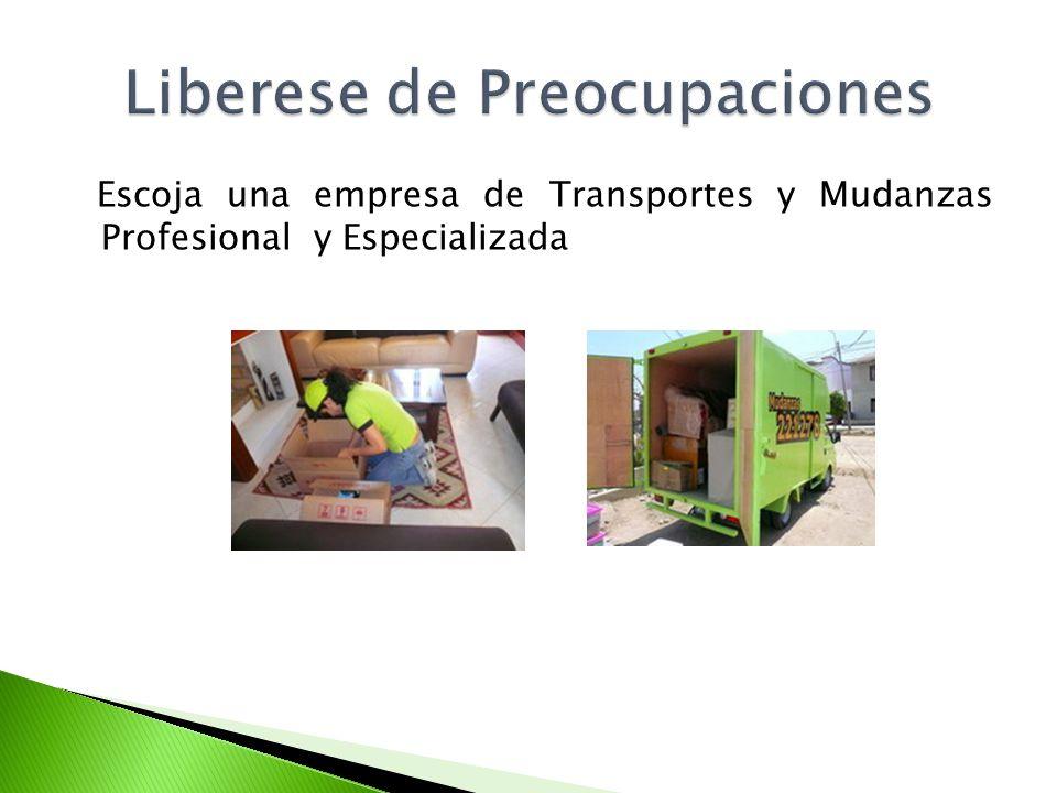 Escoja una empresa de Transportes y Mudanzas Profesional y Especializada