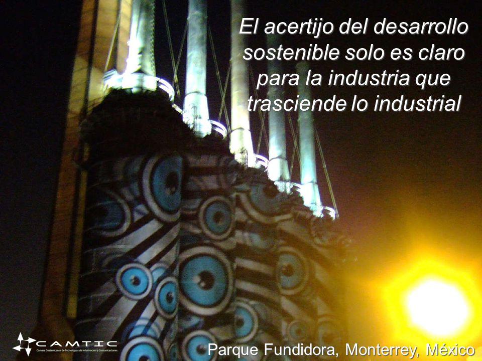 El acertijo del desarrollo sostenible solo es claro para la industria que trasciende lo industrial Parque Fundidora, Monterrey, México