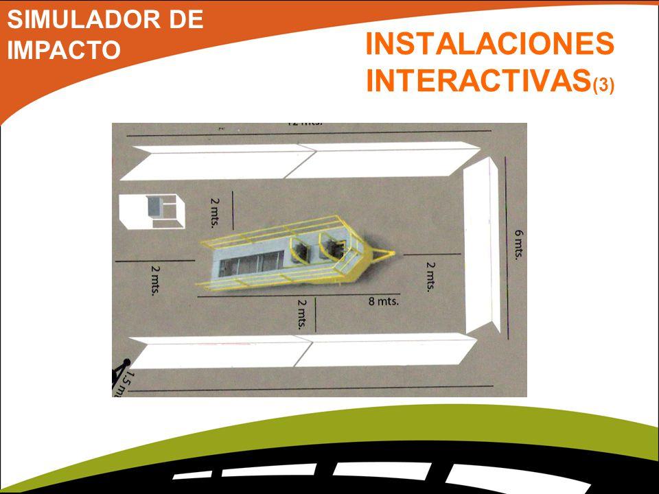 INSTALACIONES INTERACTIVAS (3) SIMULADOR DE IMPACTO
