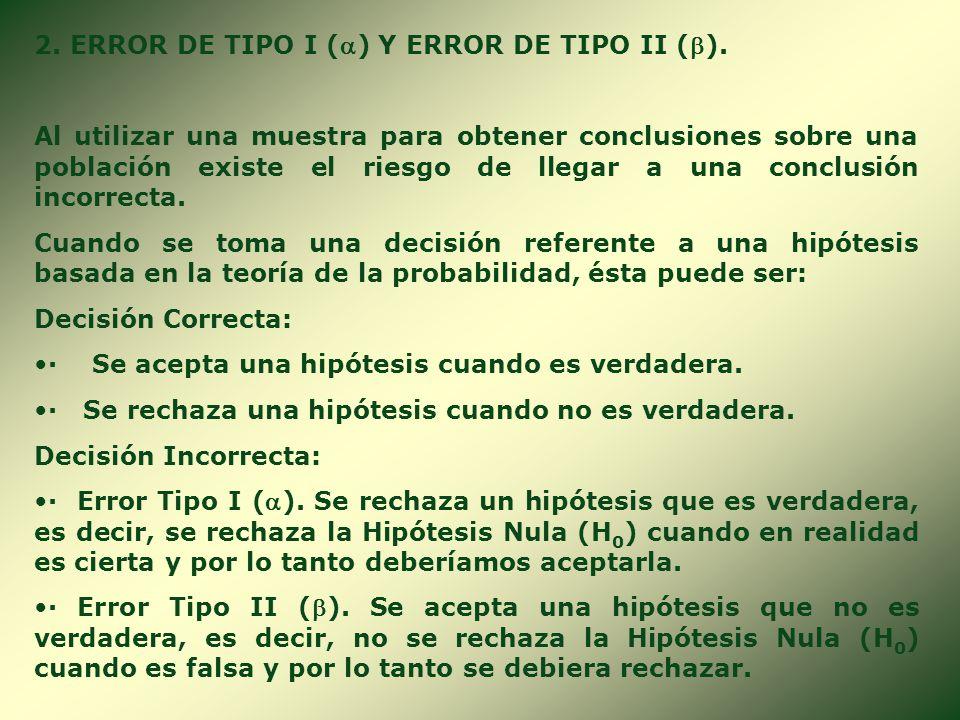 1. CLASES DE HIPÓTESIS. 1.1. HIPÓTESIS ESTADÍSTICA. Son los enunciados provisionales referentes a una o a dos características de una población. Para t